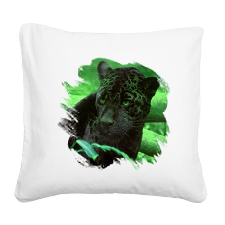 black jaguar Square Canvas Pillow