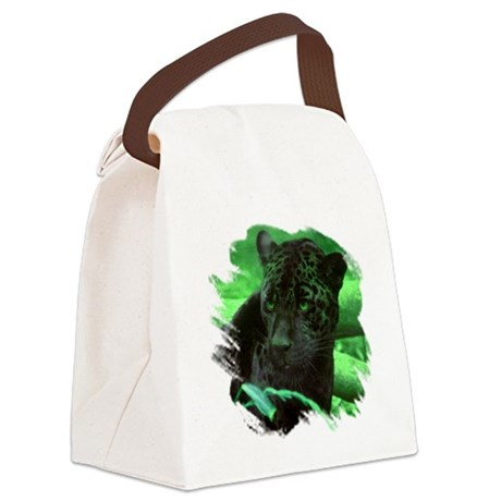 black jaguar Canvas Lunch Bag