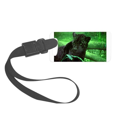black jaguar Small Luggage Tag