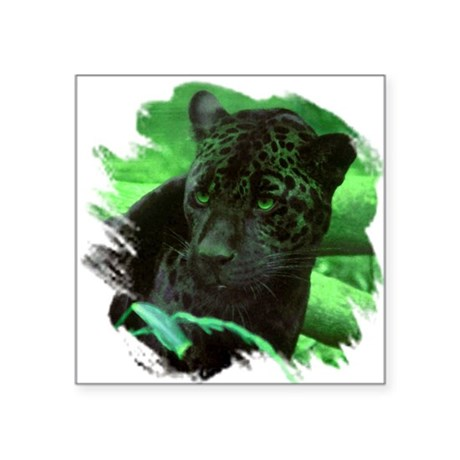 "black jaguar Square Sticker 3"" x 3"""