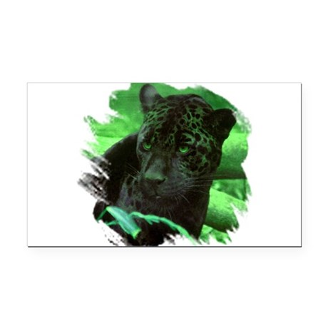 black jaguar Rectangle Car Magnet