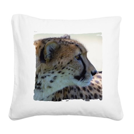 cheeta Square Canvas Pillow