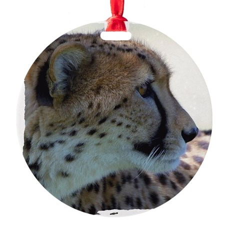 cheeta Round Ornament