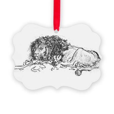 Lion Picture Ornament