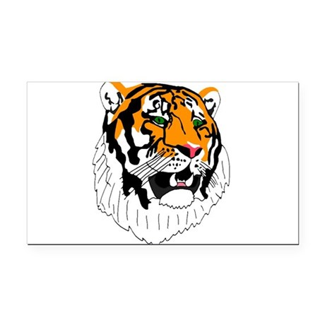 tiger Rectangle Car Magnet
