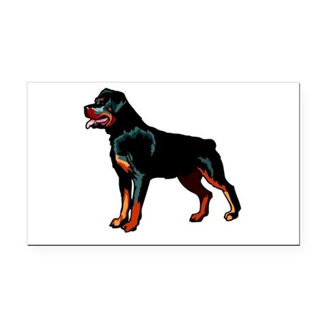 rott Rectangle Car Magnet