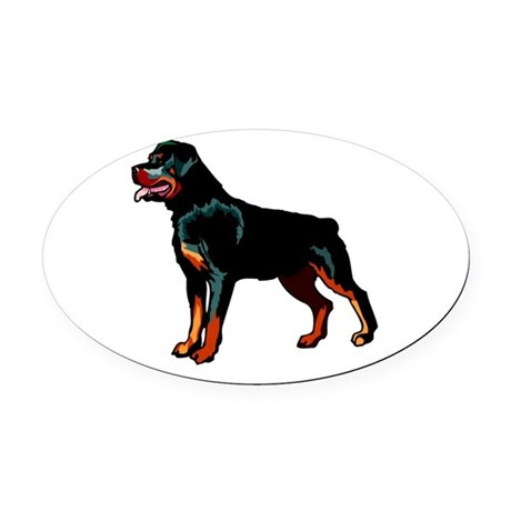 rott Oval Car Magnet