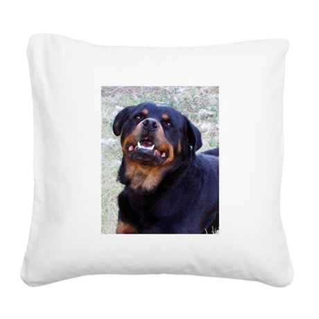 Rottweiler Square Canvas Pillow