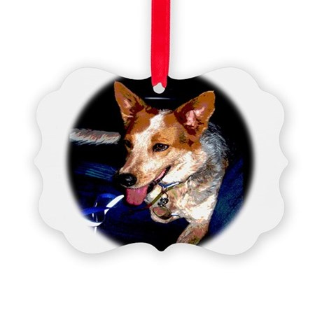 Red Heeler Picture Ornament