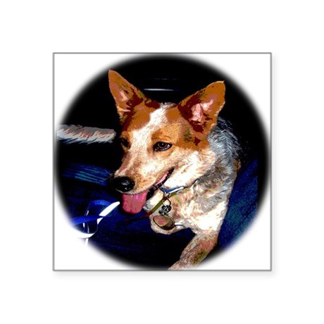 "Red Heeler Square Sticker 3"" x 3"""