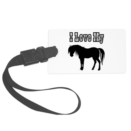 pony.png Large Luggage Tag