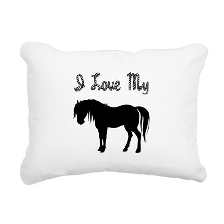 pony3.png Rectangular Canvas Pillow