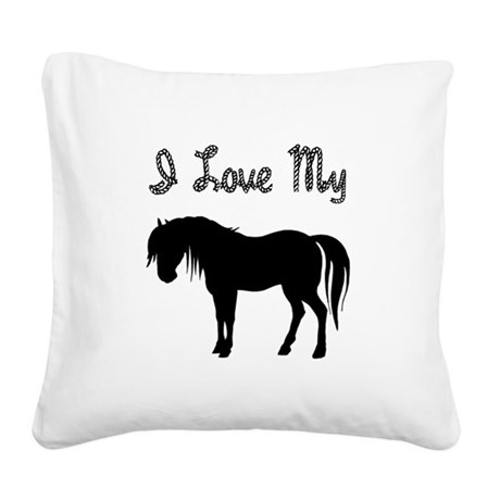 pony3.png Square Canvas Pillow
