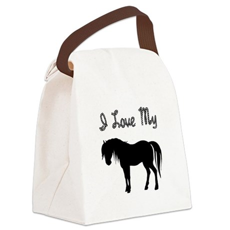 pony3.png Canvas Lunch Bag