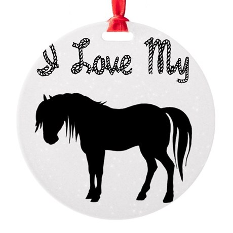 pony3.png Round Ornament