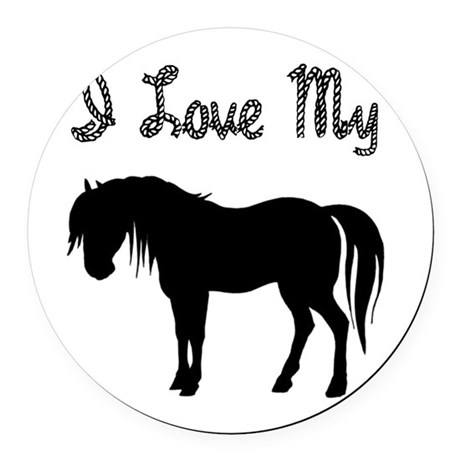 pony3.png Round Car Magnet