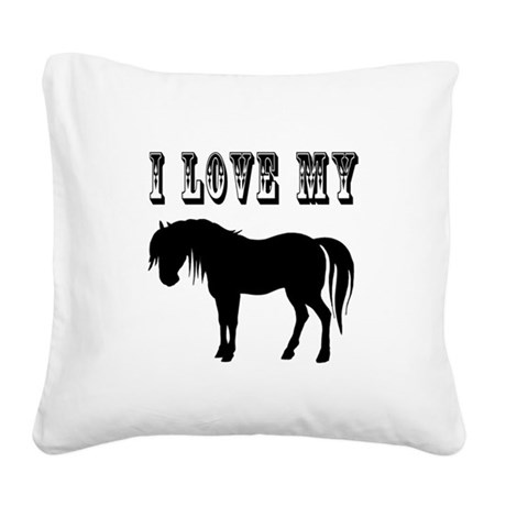 pony2.png Square Canvas Pillow