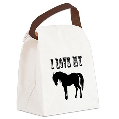 pony2.png Canvas Lunch Bag