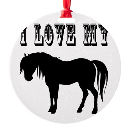 pony2.png Round Ornament