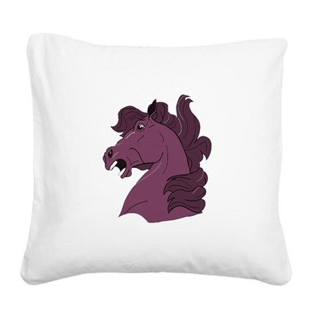 horse7b.png Square Canvas Pillow