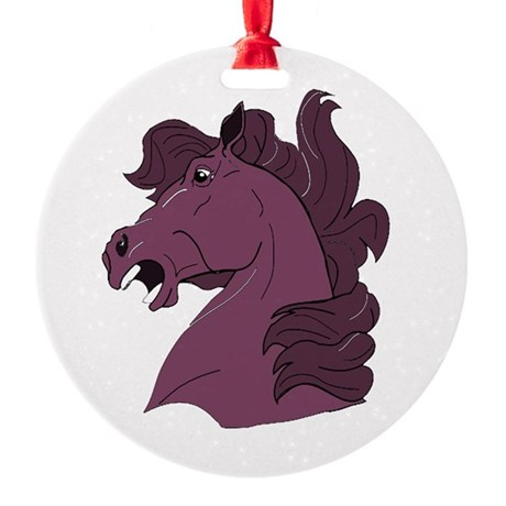 horse7b.png Round Ornament