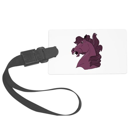 horse7b.png Large Luggage Tag