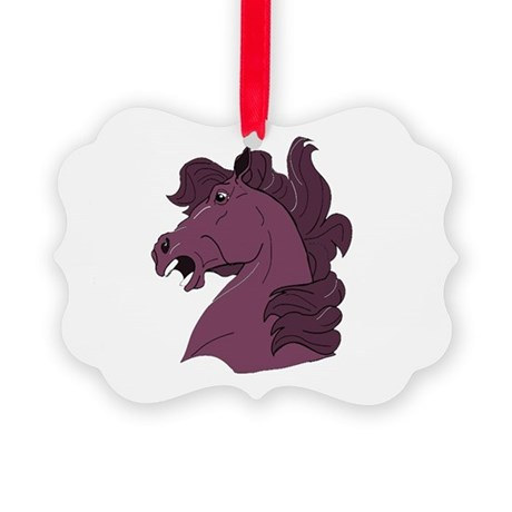 horse7b.png Picture Ornament