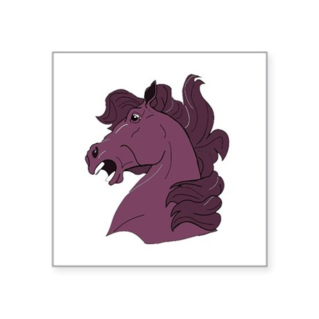horse7b.png Square Sticker 3&quot; x 3&quot;