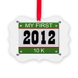 My First 10K (Bib) - 2012 Ornament