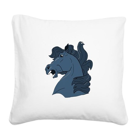 horse7a.png Square Canvas Pillow