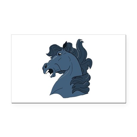 horse7a.png Rectangle Car Magnet