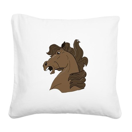 horse7.png Square Canvas Pillow