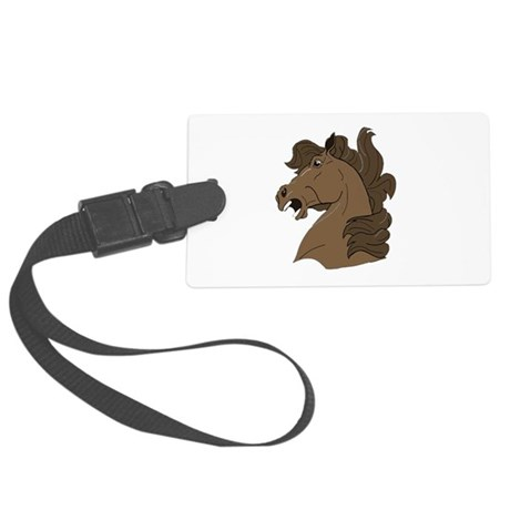 horse7.png Large Luggage Tag