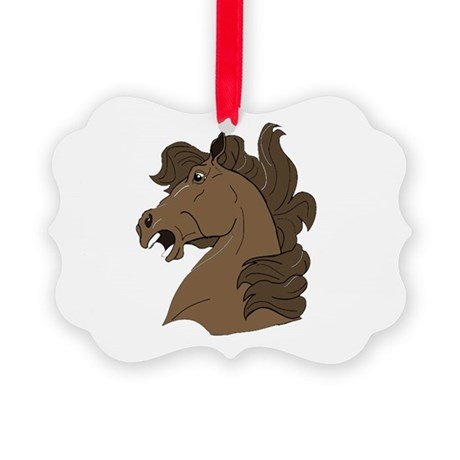 horse7.png Picture Ornament