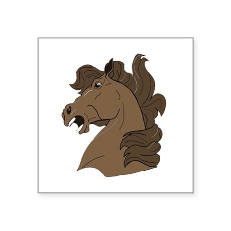 "horse7.png Square Sticker 3"" x 3"""