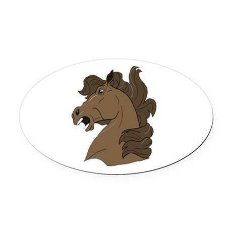 horse7.png Oval Car Magnet