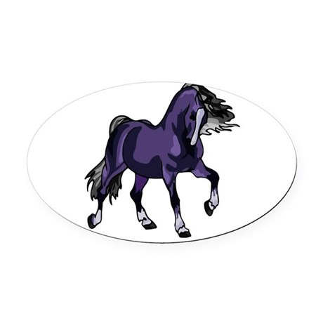 horse5.png Oval Car Magnet