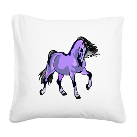 Lilac Horse Square Canvas Pillow