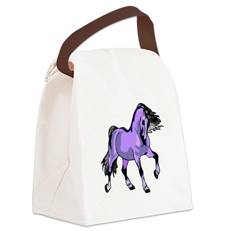 Lilac Horse Canvas Lunch Bag