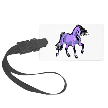 Lilac Horse Large Luggage Tag
