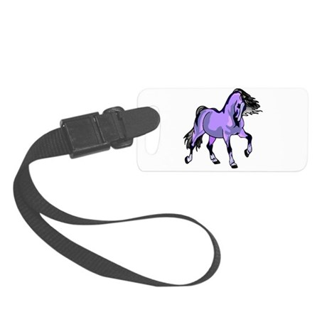Lilac Horse Small Luggage Tag