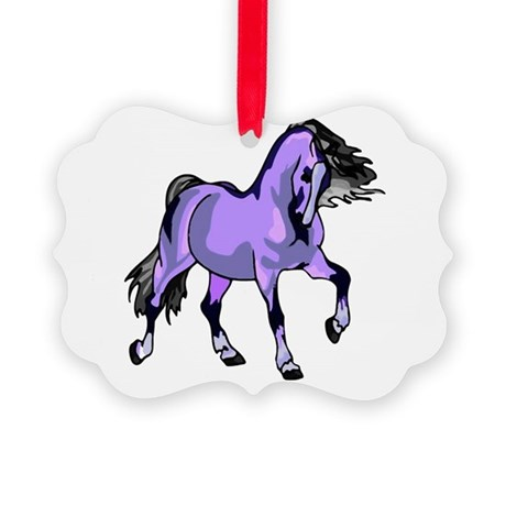 Lilac Horse Picture Ornament