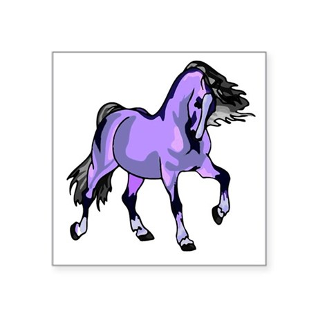 "Lilac Horse Square Sticker 3"" x 3"""
