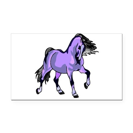 Lilac Horse Rectangle Car Magnet