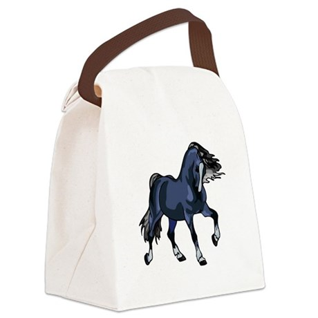 Blue Horse Canvas Lunch Bag