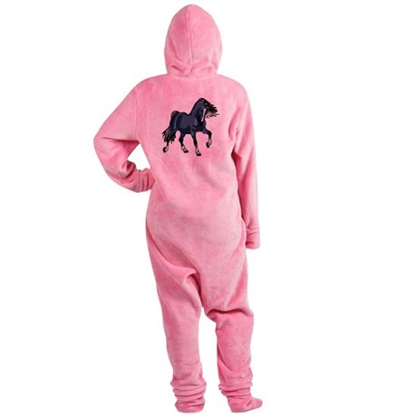 Blue Horse Footed Pajamas