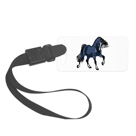 Blue Horse Small Luggage Tag