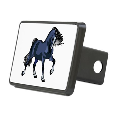Blue Horse Rectangular Hitch Cover