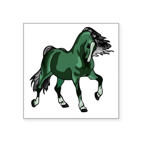 "horse4a.png Square Sticker 3"" x 3"""