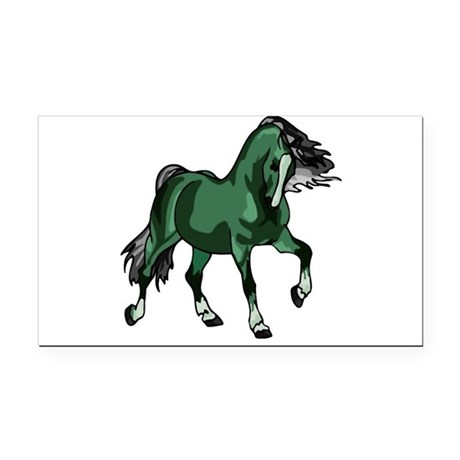 horse4a.png Rectangle Car Magnet